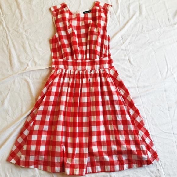ef2d7871e82 Modcloth Red   White Checkered Gingham Dress. M 5af9d434a6e3ea7c43abc3e9